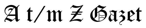 A t/m Z Gazet